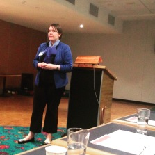 Alicia Curtis at the Cronulla RSL Toastmasters Club in May 2015